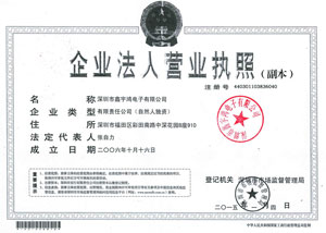 Business License of NewSky